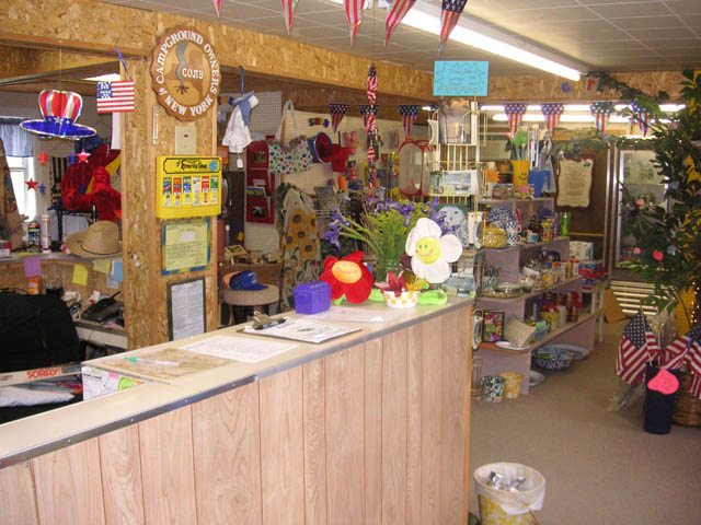 Shopping at Brook n Wood Campground